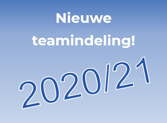 Teamindeling 2020/21