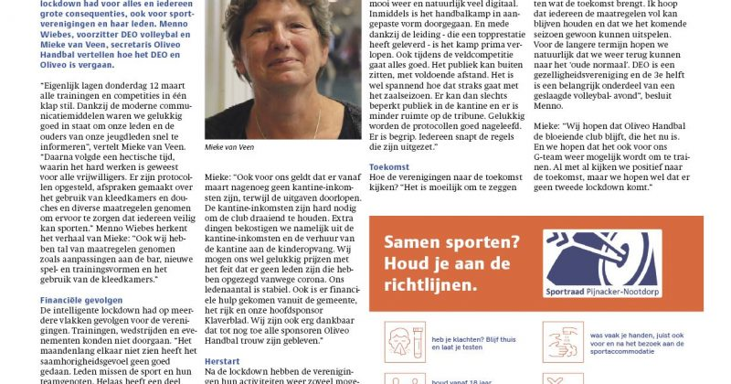Interview Mieke in Telstar